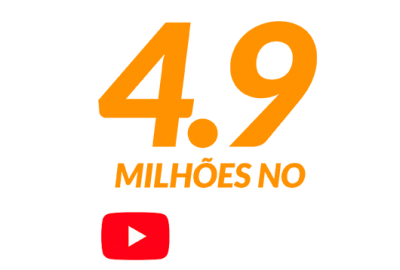 4.9 Milhoes no Youtube